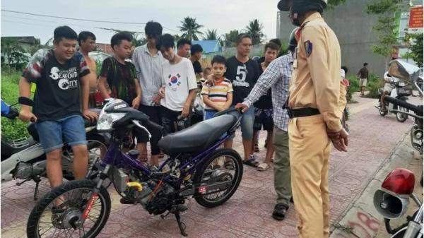 Ngăn chặn kịp thời hơn 20 thiếu niên phóng xe bạt mạng, thách thức CSGT