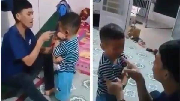 """Phẫn nộ clip cha tát bôm bốp khiến con nhỏ bầm tím mặt rồi dọa dẫm khi vợ can ngăn: """"Tao g.iết nó được luôn đó, mày tin không?"""""""