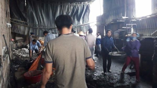 Đông Hưng (Thái Bình): Cháy lớn tại xưởng sản xuất bánh kẹo, thiệt hại hàng tỉ đồng