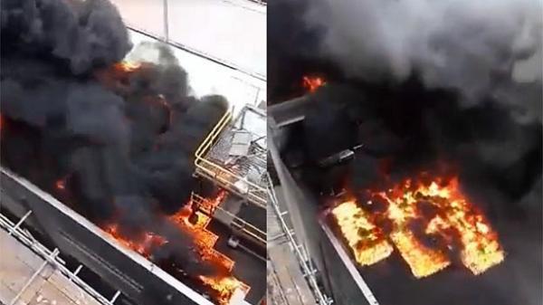 Cháy dữ dội ở nhà máy Nhiệt điện Thái Bình 2, khói đen bốc cao hàng chục mét