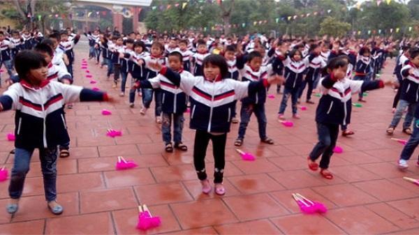Thái Bình thay đổi hình thức hoạt động thể dục giữa giờ