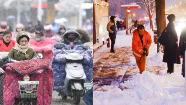 Đợt không khí làm nhiệt độ ở Trung Quốc xuống âm 41 độ đang tràn xuống Việt Nam