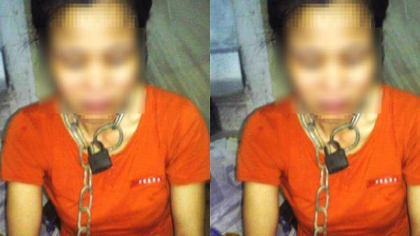 Người chồng xích cổ vợ ở Thái Bình không bị xử lý hình sự