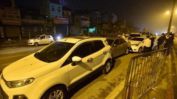 Tai nạn trong đêm, 1 trong 4 xe ô tô mang BKS Thái Bình gặp nạn