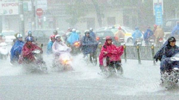 Bắc bộ mưa giông lớn kéo dài 3 ngày, đề phòng mưa lũ, sạt lở