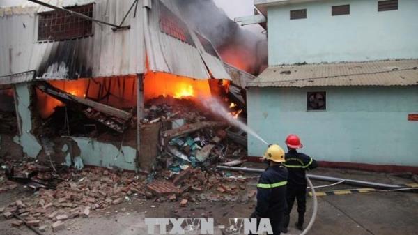 Cháy lớn tại KCN tỉnh Vĩnh Phúc, hàng nghìn công nhân phải nghỉ việc