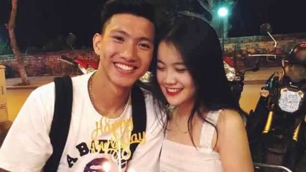 Cầu thủ Đoàn Văn Hậu quê Thái Bình công khai bạn gái trong ngày sinh nhật?