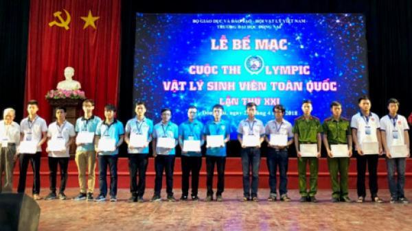 5 sinh viên Khoa Vật lý Trường ĐH Sư phạm Thái Nguyên đoạt giải cao tại Cuộc thi Olympic Vật lý sinh viên toàn quốc 2018