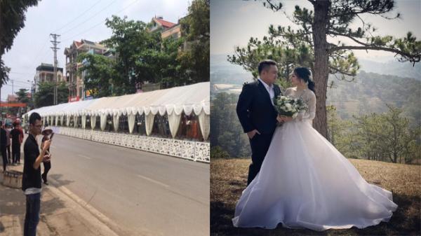 """Rạp cưới khổng lồ """"chất"""" nhất Vịnh Bắc Bộ của cặp đôi """"trai xinh gái đẹp"""" dài bằng cả dãy phố, bên trong là 300 mâm cỗ ăn 2 ngày mới hết"""
