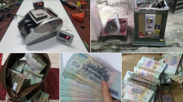 Thái Bình: Phá két sắt thấy 2,6 tỉ đồng, trộm luôn máy đếm tiền để đếm tiền chia nhau