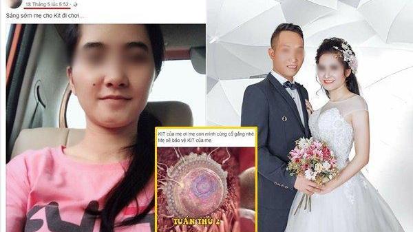 Lạnh người trước dòng status cuối cùng của người vợ 23 tuổi đang mang thai nghi bị chồng bóp cổ chết