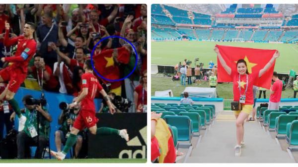 Đã tìm ra chủ nhân của lá cờ của Tổ quốc Việt Nam trong trận bóng đầy hấp dẫn là người Thái Bình