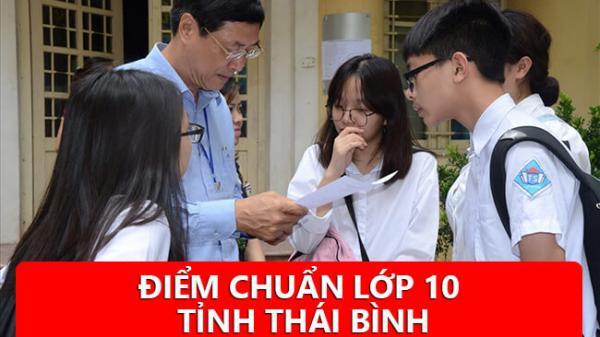 NÓNG: Chính thức ĐIỂM CHUẨN  lớp 10 các trường tại Thái Bình