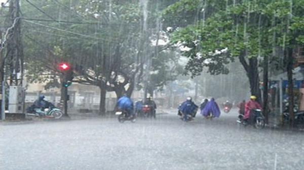 Dự báo thời tiết: Áp thấp gây mưa lớn, Thái Bình mưa kéo dài cả tuần