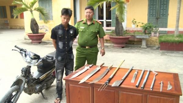 Quỳnh Phụ (Thái Bình): Kẻ cướp 'găm' nhiều vũ khí 'nóng' bị tóm gọn sau 2 ngày gây án