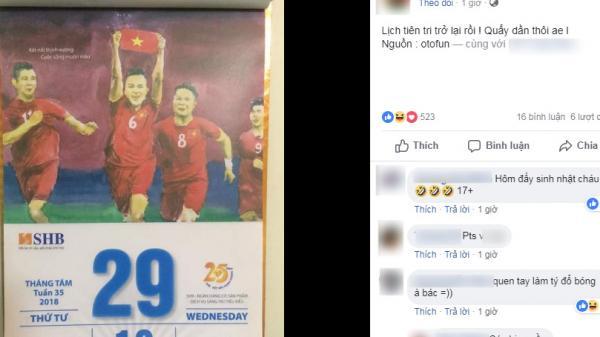 Dân mạng sục sôi tờ lịch 'tiên tri' chiến thắng của Olympic Việt Nam trong trận bán kết gặp Olympic Hàn Quốc