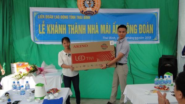 Thái Bình: Trao Mái ấm Công đoàn trị giá 30 triệu đồng cho đoàn viên khó khăn