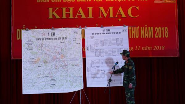 Khai mạc diễn tập khu vực phòng thủ huyện Vũ Thư
