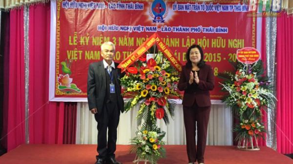 Hội Hữu nghị Việt Nam - Lào thành phố Thái Bình gặp mặt truyền thống