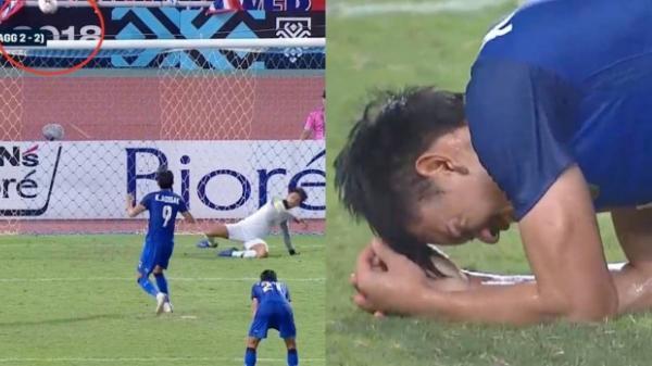 Cầu thủ Thái Lan khóc nức nở, CĐV như mất hồn sau khi bị Malaysia loại ngay trên sân nhà