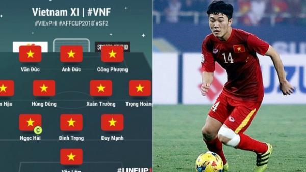 Đội hình chính thức Việt Nam vs Philippines: Xuân Trường đá chính, Quang Hải dự bị