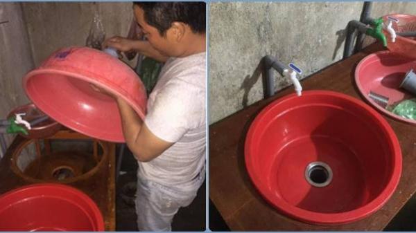 'Chồng Việt Nam chất lượng cao': Không có tiền thì tự chế bồn rửa bát để vợ đỡ đau lưng
