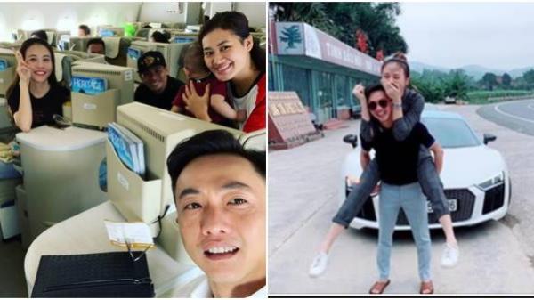 """Dân mạng xuýt xoa vui mừng khi Cường Đôla """"cõng"""" Đàm Thu Trang về quê để hỏi cưới"""