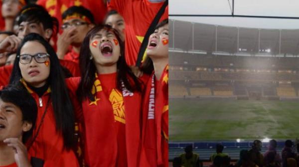 Kuala Lumpur đang mưa rất to, Việt Nam vs Malaysia sẽ đá sân trơn ướt