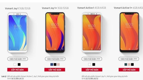 Ngay trước khi mở bán, 4 smartphone Vsmart lộ cấu hình và màu sắc