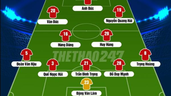 Đội hình chính thức Việt Nam đấu Malaysia: Lại bất ngờ lớn