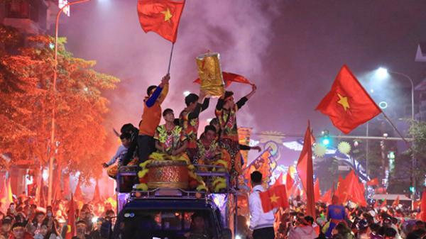 Người dân Thái Bình ăn mừng chức vô địch AFF Cup 2018 của đội tuyển Việt Nam