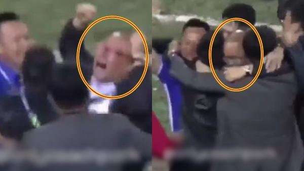 Xúc động khoảnh khắc thầy Park nhảy lên ôm BHL khóc nức nở khi Việt Nam chính thức lên ngôi vô địch