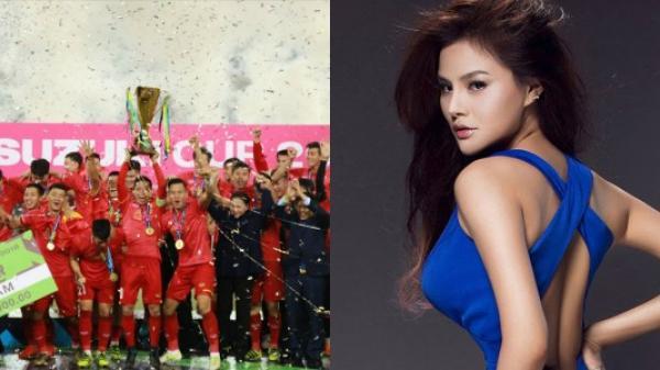 Siêu mẫu đẹp nhất Việt Nam thưởng nóng 2 tỷ đồng cho thầy trò HLV Park sau chức vô địch AFF Cup