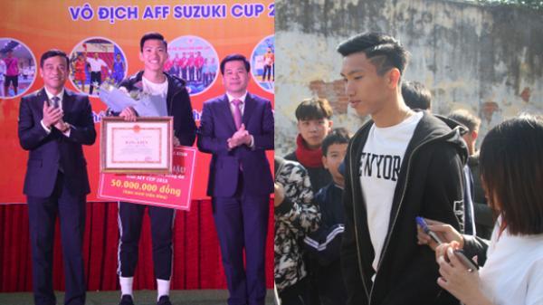 Thái Bình: Trao Bằng khen và tặng 50 triệu đồng cho cầu thủ Đoàn Văn Hậu