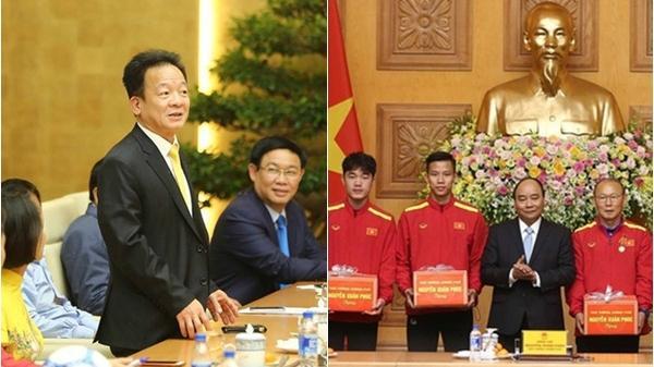 Thật bất ngờ món quà của Thủ tướng dành tặng Đội tuyển bóng đá Việt Nam, Bầu Hiển tặng 3 tỷ