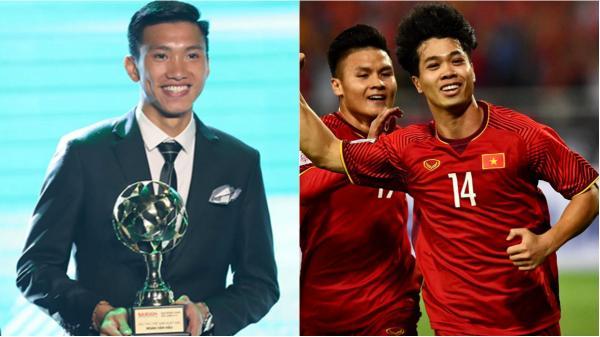 Đoàn Văn Hậu quê Thái Bình là cầu thủ trẻ xuất sắc nhất, Công Phượng được yêu thích nhất năm 2018