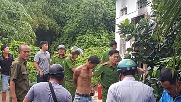 Thanh niên ngáo đá ôm bình gas cố thủ sau khi trộm xe máy