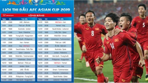 Tối nay Asian Cup 2019 chính thức khởi tranh: Lịch thi đấu và kênh phát sóng trực tiếp trên TV