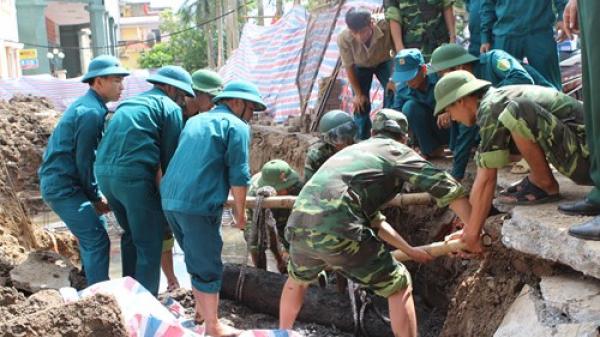 Thái Bình: Phát hiện quả bom nặng 500 cân Anh