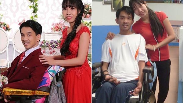 Thầy giáo bật khóc khi được vợ đẩy xe lăn vào hôn trường, phản ứng của nhà gái quá bất ngờ