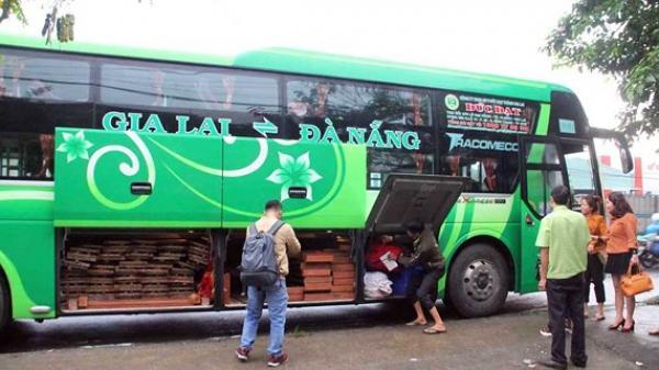 Bắt 2 xe khách giường nằm chạy tuyến Gia Lai - Đà Nẵng chở gỗ không rõ nguồn gốc