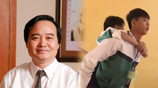 Bộ trưởng Phùng Xuân Nhạ gửi thư khen học sinh cõng bạn đến trường ở Thái Bình