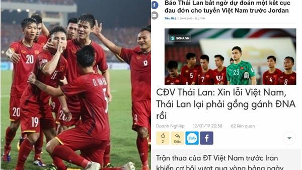 Chiến thắng ngoạn mục trước Jordan nhưng lời nói của CĐV Thái Lan mới là đề tài chế ảnh của CĐM Việt Nam