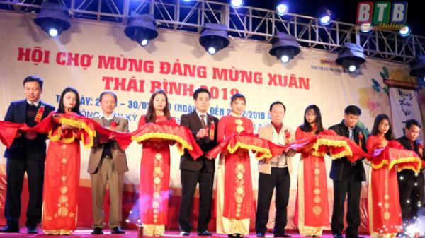 Khai mạc hội chợ Mừng Đảng - mừng Xuân Thái Bình và trưng bày báo Xuân Kỷ Hợi năm 2019