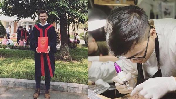 Anh trai Quang Hải: Đẹp trai, cao hơn em, là thợ xăm có tiếng ở Hà Nội
