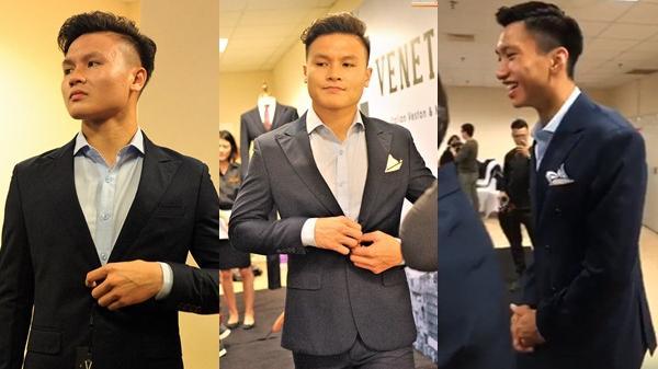 HN FC tập trung thử đồ, Quang Hải, Văn Hậu quê Thái Bình  mặc vest lịch lãm, Dũng 1 đẹp trai như người mẫu