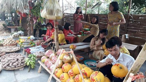 Thái Bình: Tưng bùng tổ chức phố ông đồ và góc chợ quê độc đáo