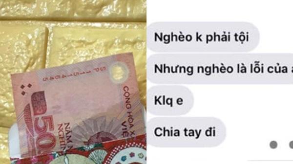 Lì xì bạn gái 50k, chàng trai bị 'đá' ngay mùng 1 Tết vì 'nghèo là lỗi của anh'