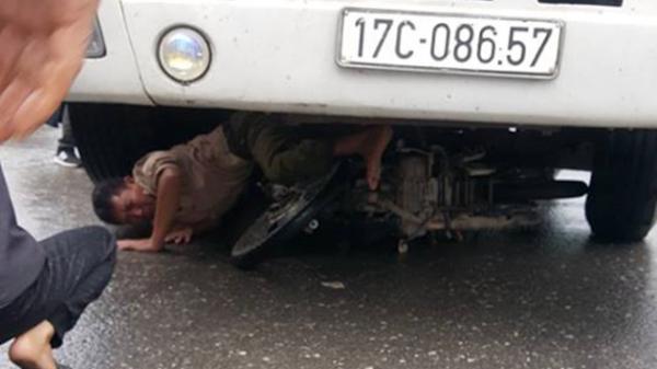 Người đàn ông thoát ch.ết hy hữu sau khi bị xe tải hướng đi Hải Phòng kéo lê dưới gầm xe