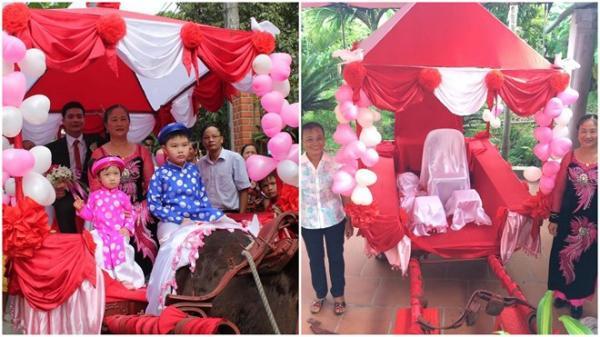 Thái Bình: Nhà gái 'đứng hình' khi chú rể đưa xe ngựa rước dâu